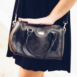 Black and Brown Coach Crossbody Bag